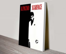 Scarface Vintage Movie Poster on Canvas