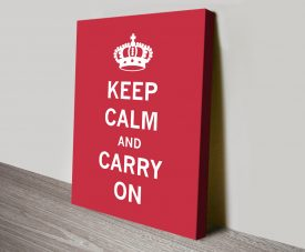 Scarlet Keep Calm & Carry on Wall Art