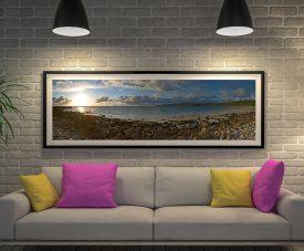 Buy a Sennen Beach Panoramic Canvas Print