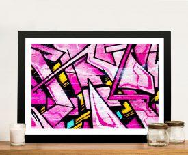 Buy Shades of Pink Framed Street Art