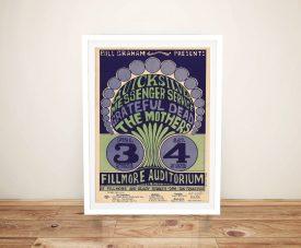 Buy a Wes Wilson Grateful Dead Concert Poster Print