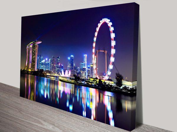 Singapore City Skyline Wall Art Print