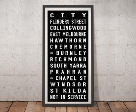 St Kilda Tram Banner Framed Wall Art