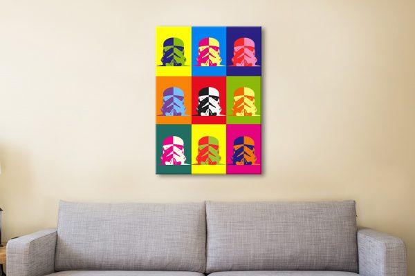 Buy Warhol Style Storm Trooper Wall Art Cheap