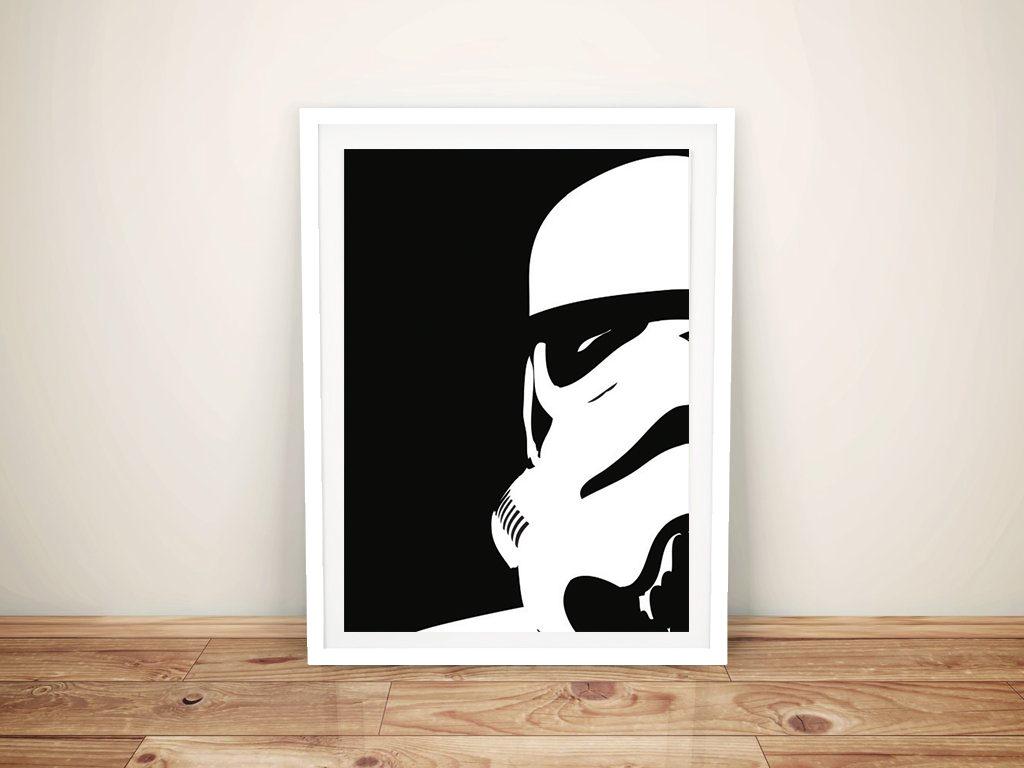 Storm trooper helmet framed wall art prints buy star for Buy canvas prints online