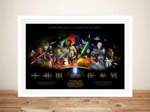 Star Wars All Movies Print Framed Wall Art