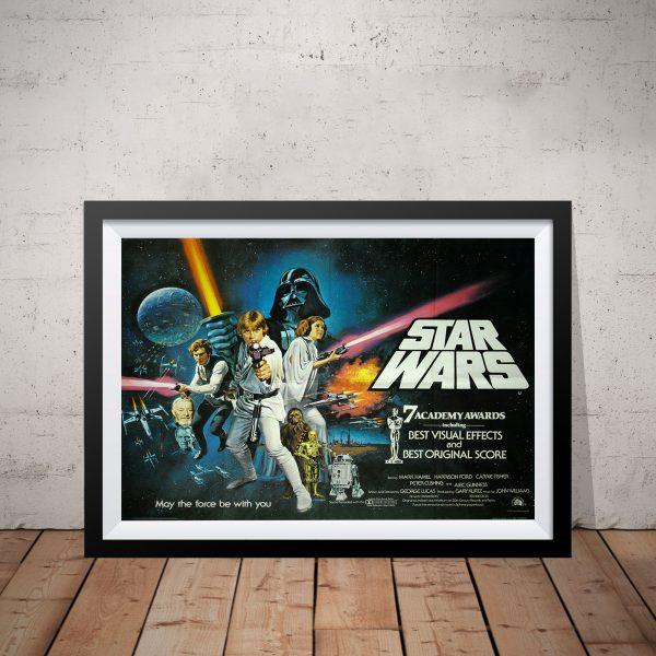 Framed Vintage Star Wars Movie Poster
