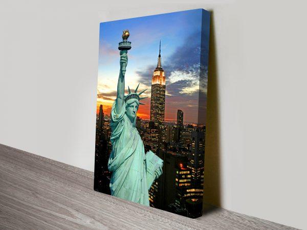 Statue of Liberty New York Canvas Art Print