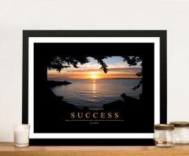 Success Motivational Framed Business Art