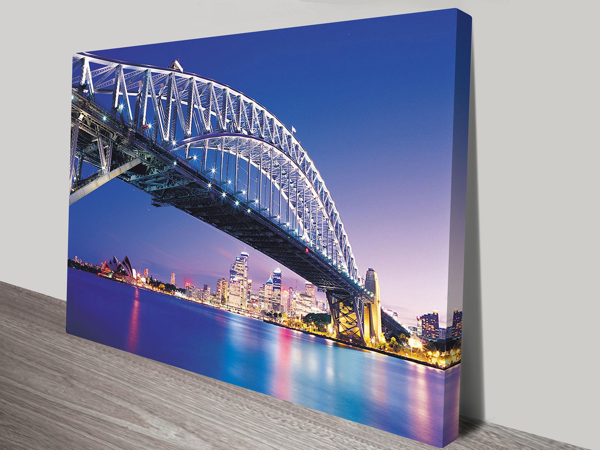 Buy Sydney Harbour Bridge Canvas Art Picture Prints Australia
