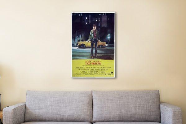 Taxi Driver Vintage Movie Poster Canvas Artwork