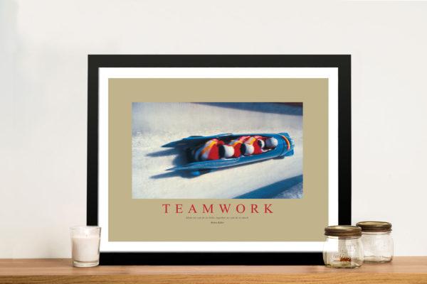 Teamwork Motivational Framed Wall Art