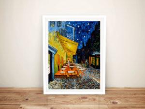 The Café Terrace Van Gogh Framed Wall Art Print