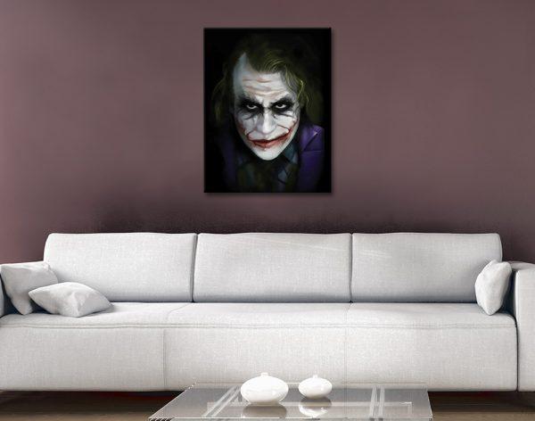 The Joker Heath Ledger Canvas Wall Art