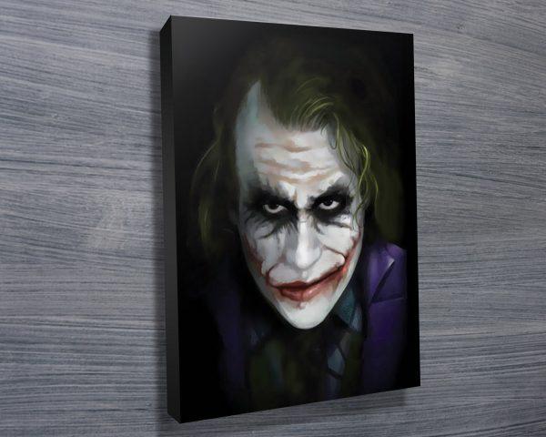 The Joker Movie Art On Canvas