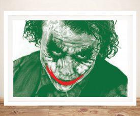 Framed Heath Ledger The Joker Wall Art