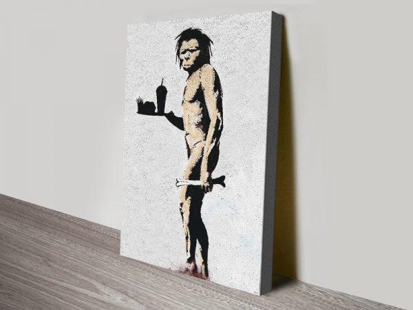 The Caveman Banksy Art Great Gift Ideas Online