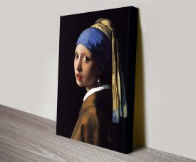 Girl with a Pearl Earring Johannes Vermeer Canvas Wall Art Print