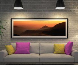 Buy Tibetan Foothills Framed Panoramic Art