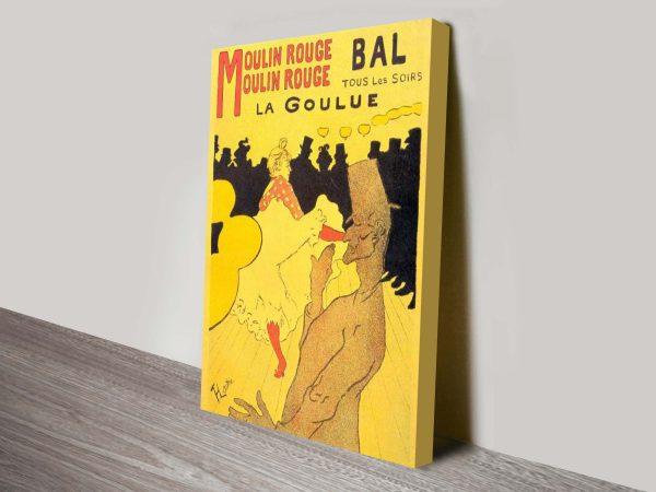 Moulin Rouge la Goulue by French Artist Toulouse Lautrec