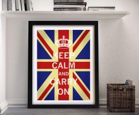 Buy a Framed Union Jack Keep Calm Poster