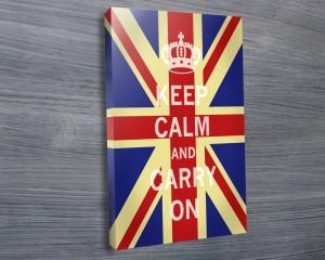 Union Jack keep calm art