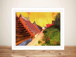 Van Gogh Street in Saintes Maries Framed Wall Art