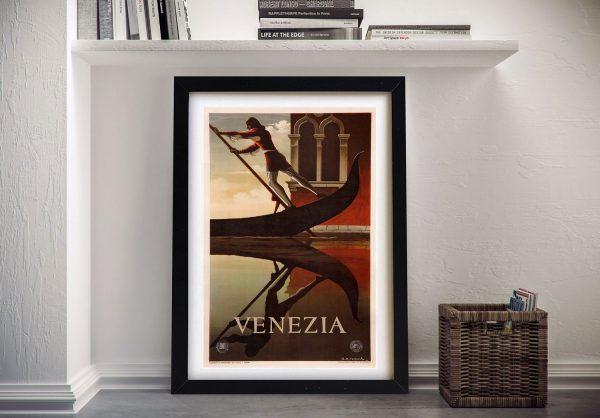 Venice Framed Travel Poster Wall Art