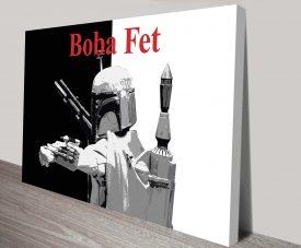 Boba Fett Canvas & Framed Wall Art Print