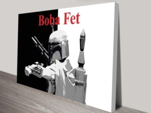 Boba Fett Canvas & Framed Wall Art Print