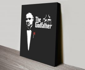 The Godfather Movie Poster Print on Canvas