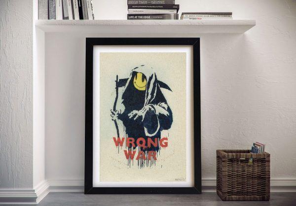 Banksy Wrong War Artwork on Canvas