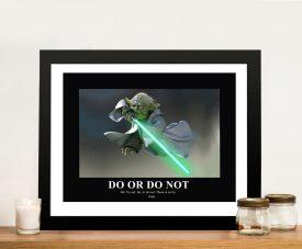 Yoda art Framed Wall Poster