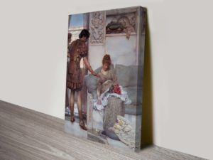 A Silent Greeting by Sir Lawrence Alma-Tadema Painting Print on Canvas