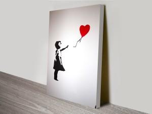 Balloon Girl With Heart Banksy Artwork on Canvas