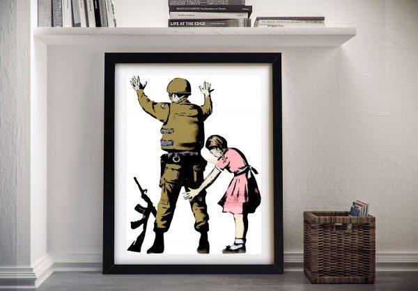 Banksy Pat Down Wall Art Print