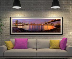 Buy Brooklyn Skyline Panoramic Canvas Art