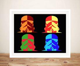 star wars colour art canvas