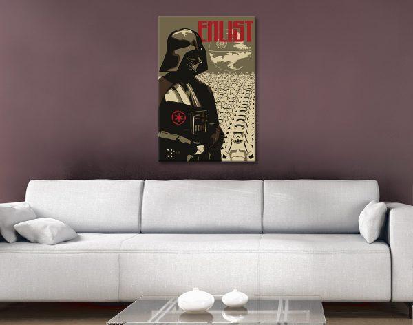 Buy Star Wars Retro Poster Prints Cheap Online