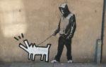 Banksy Canvas Wall Art Dog Walker Keith Haring