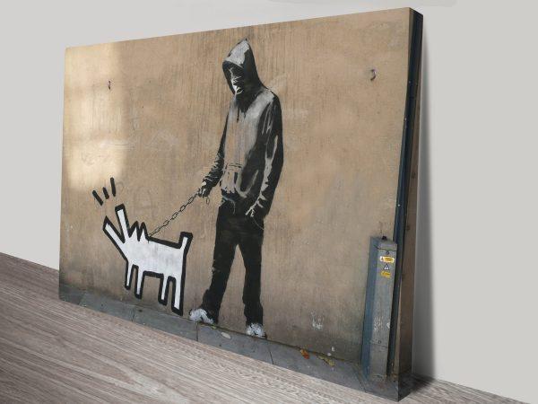 graffiti banksy haring dog art print