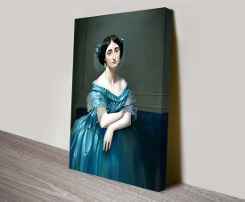 Portrait of Princesse Albert de Broglie Canvas Print