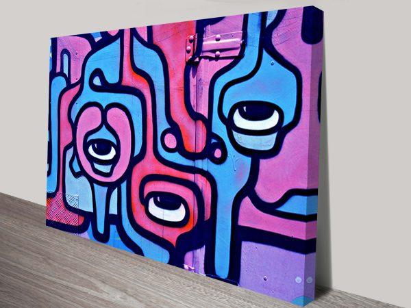 liquid eyeballs street art canvas-
