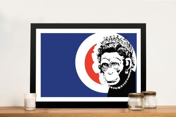 Buy Monkey Queen Banksy Framed Artwork