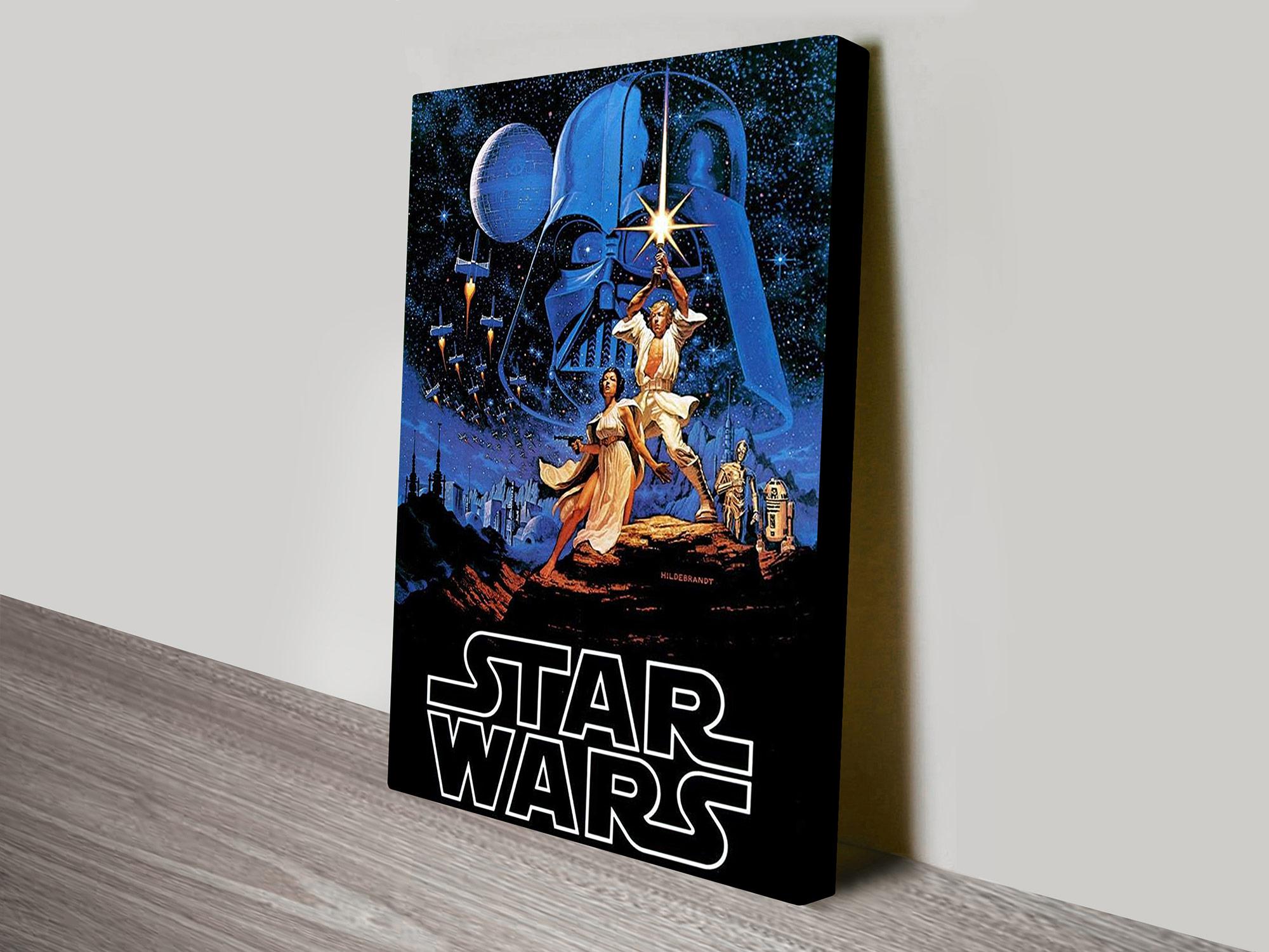 star wars vintage poster i hildebrandt vintage wall art print. Black Bedroom Furniture Sets. Home Design Ideas