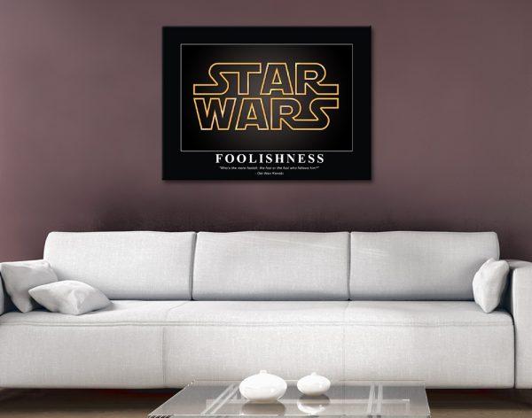 Affordable Star Wars Obi Wan Kenobi Quote Art