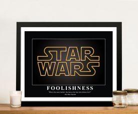 Star Wars Framed Motivational Canvas Print
