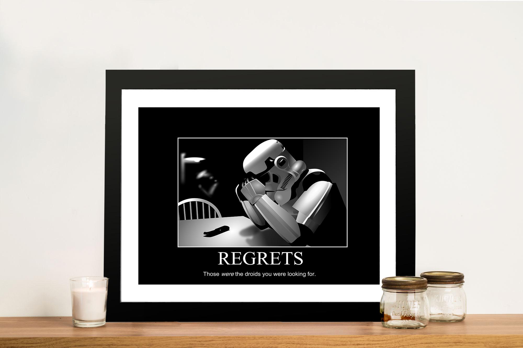 Storm Troopers Regrets Motivational Poster Artworks