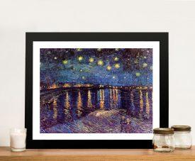 Van Gogh Starry Night-over the Rhone Framed Wall Art