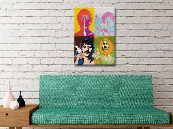The Beatles Popart Canvas Artwork